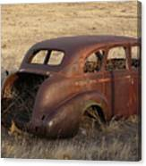 Car At Rust Canvas Print