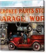 Car - Garage - Cherokee Parts Store - 1936 Canvas Print