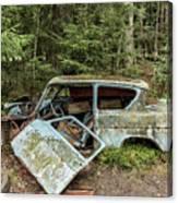 Car Graveyard In Smaland Canvas Print
