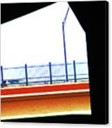 Car On The Bridge Canvas Print