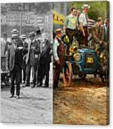 Car - Race - The End Of A Long Journey 1906 - Side By Side Canvas Print