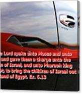 Car Reflection With Text 4 Canvas Print