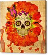 Cara De La Flor Canvas Print