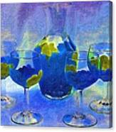 Carafe And Glasses Of Royalty Canvas Print
