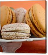 Caramel And Vanilla Macaroons Canvas Print