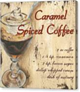 Caramel Spiced Coffee Canvas Print