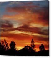 Caramel Sunset Canvas Print