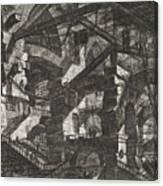 Carceri Series, Plate Xiv Canvas Print