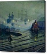 Cardiff Docks Canvas Print