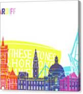 Cardiff Skyline Pop Canvas Print