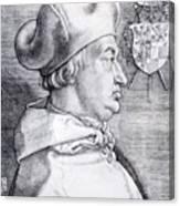 Cardinal Albrecht Of Brandenburg 1523 Canvas Print