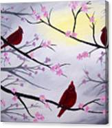 Cardinal Blossoms Canvas Print