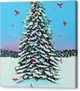 Cardinal Christmas Canvas Print