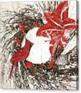 Cardinal Holiday I Canvas Print