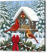 Cardinals Christmas Feast Canvas Print