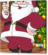 Cardinals Santa Claus Canvas Print