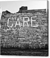 Care Graffiti Building Canvas Print