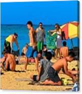 Carefree In Waikiki Canvas Print