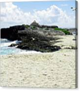 Caribbean Beach Scenic Canvas Print