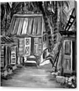 Caribbean Country House Canvas Print