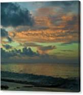 Caribbean Early Sunrise 2 Canvas Print