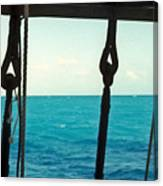 Caribbean From A Square Rigger Canvas Print