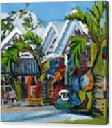 Caribbean Outdoor Market Canvas Print