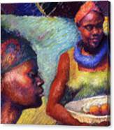 Caribbean Women With Oranges Canvas Print
