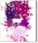 Caribou Winter Art Canvas Print