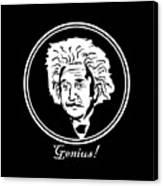 Caricature Of Albert Einstein Genius Canvas Print