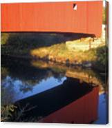 Carleton Covered Bridge Reflection Canvas Print