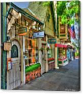 Carmel, Ca. The Shops Of Ocean Ave. Canvas Print