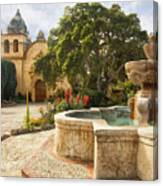 Carmel Church And Fountain Canvas Print