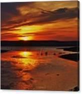 Carmel Colored Sunset In Kansas.  Canvas Print