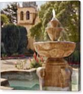 Carmel Fountain Courtyard Canvas Print