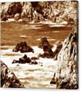 Carmel Highlands 8 Sepia Canvas Print