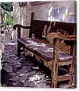 Carmel Mission Bench Canvas Print