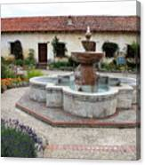 Carmel Mission Courtyard Canvas Print