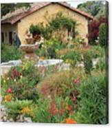 Carmel Mission Courtyard Garden Canvas Print