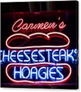 Carmens Cheesesteaks Canvas Print