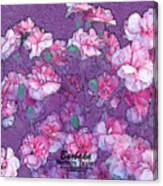 Carnation Inspired Art Canvas Print