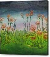 Carnations At Dusk Canvas Print