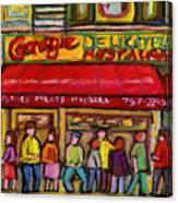 Carnegie's Deli Canvas Print