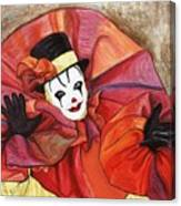 Carnival Clown Canvas Print