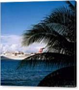 Carnival Docked At Grand Cayman Canvas Print