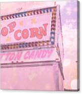 Carnival Festival Popcorn Cotton Candy Slide Fun Canvas Print