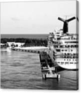 Carnival Sensation Cruise Ship - Grand Turk Island Canvas Print