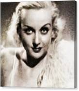 Carole Lombard, Vintage Actress By John Springfield Canvas Print