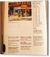 Carole Spandau Listed In  Magazin'art Biennial Guide To Canadian Artists In Galleries 2000-2001 Edit Canvas Print