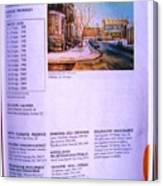 Carole Spandau Listed In Magazin'art Biennial Guide To Canadian Artists In Galleries 2002-2003 Edit Canvas Print